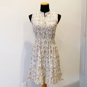 Banjanan Floral Crinkle Gauze Sleeveless Dress